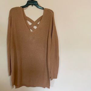 Plus Size Knitted Sweater In a Soft Pink